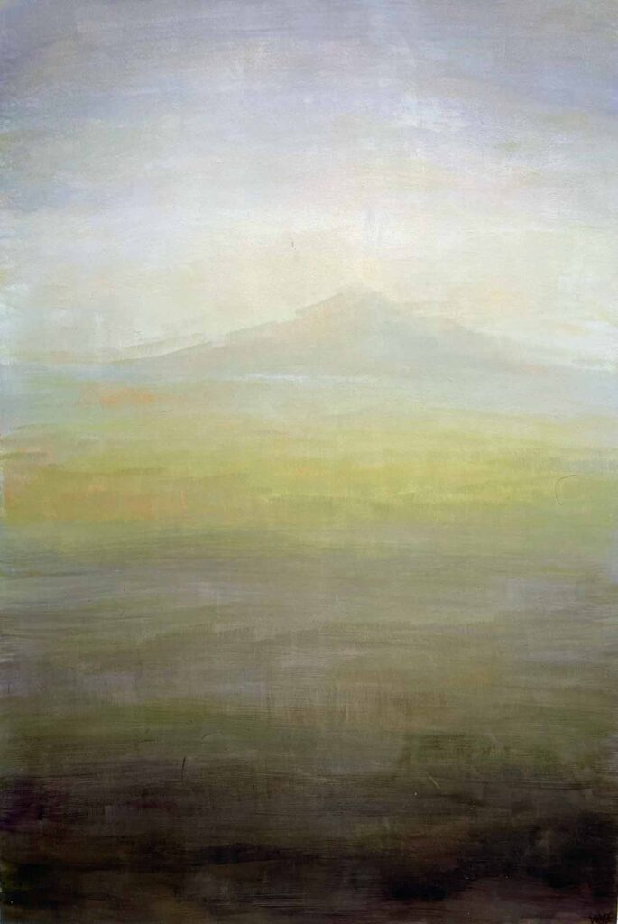 Morning Light On Grasslands On South Uist. Landscape Painting By Victoria Orr Ewing