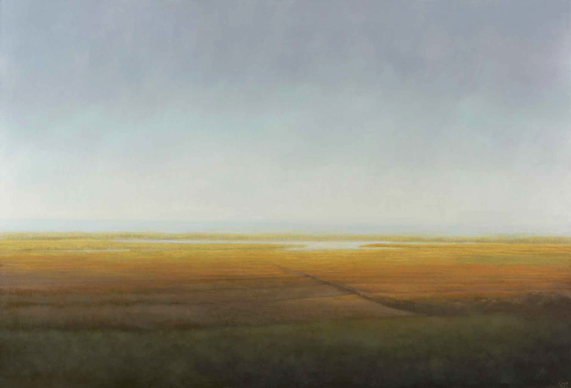 Light on the Machair, Great Benera. Lewis. Oil on board.20 x 15 cm.
