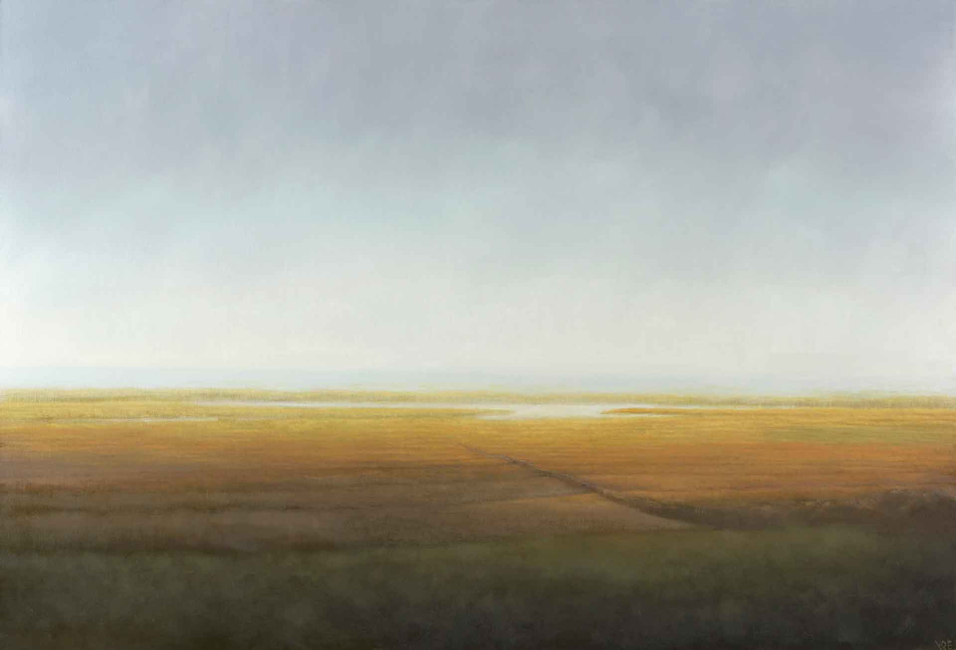 The Morning Light On The Machair, South Uist - Landscape Painting By Victoria Orr Ewing