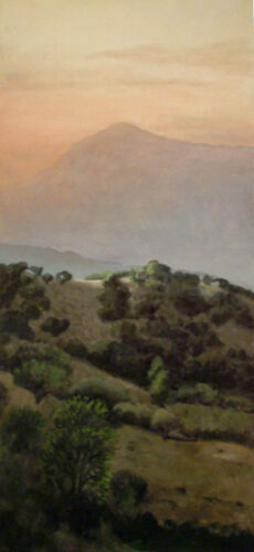 Morning From The Finca 1. Landscape Oil Painting By Victoria Orr Ewing
