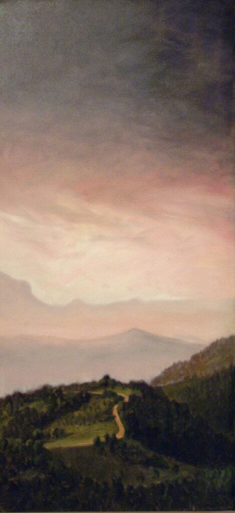 Morning From The Finca 2. Landscape Oil Painting By Victoria Orr Ewing