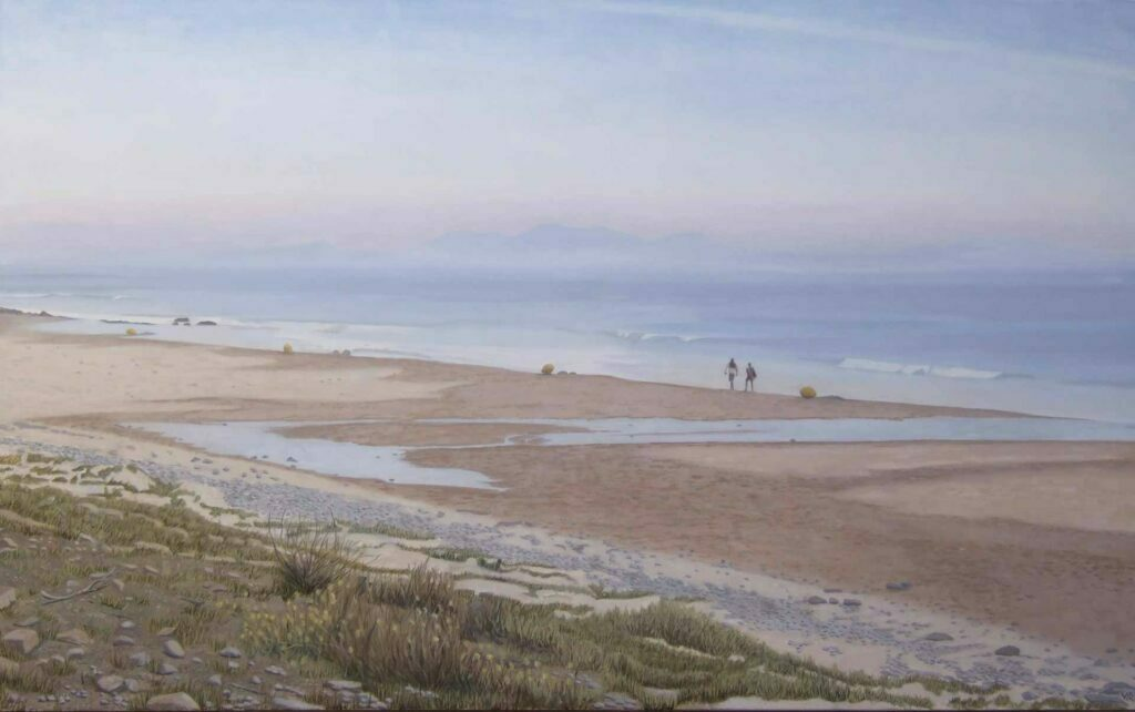Bolonia Beach 3. Landscape Oil Painting By Victoria Orr Ewing