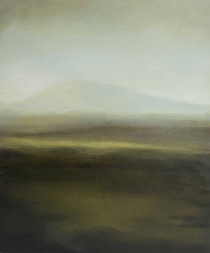 Pale Morning Light. Imaginary Landscape Painting Based On The Outer Hebrides by Victoria Orr Ewing