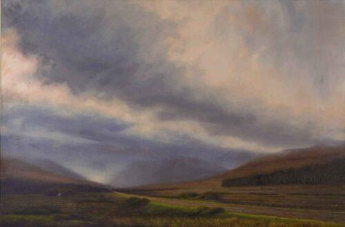 Pink Dawn Over Glenforsa, Isle of Mull, Scotland. Landscape by Victoria Orr Ewing