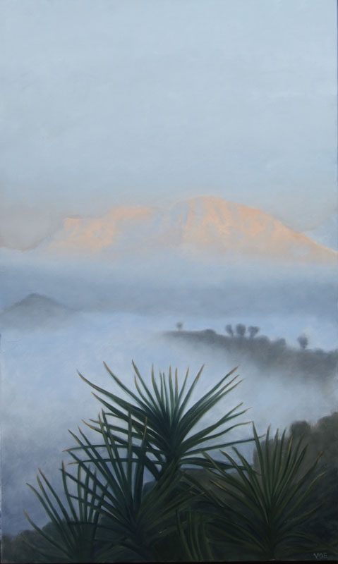 Romo Sunrise. Light on Andalucia. Contemporary landscape painting by Victoria Orr Ewing