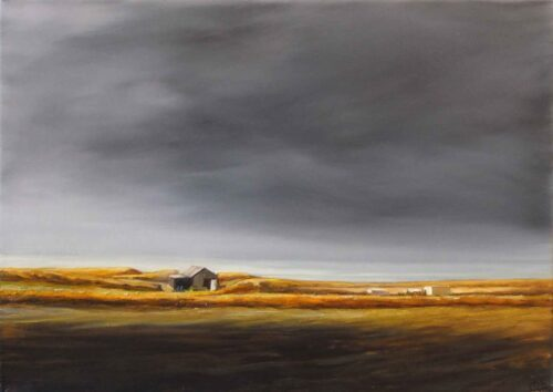 Shed by the Sea, Arisaig, Scotland. Landscape by Victoria Orr Ewing
