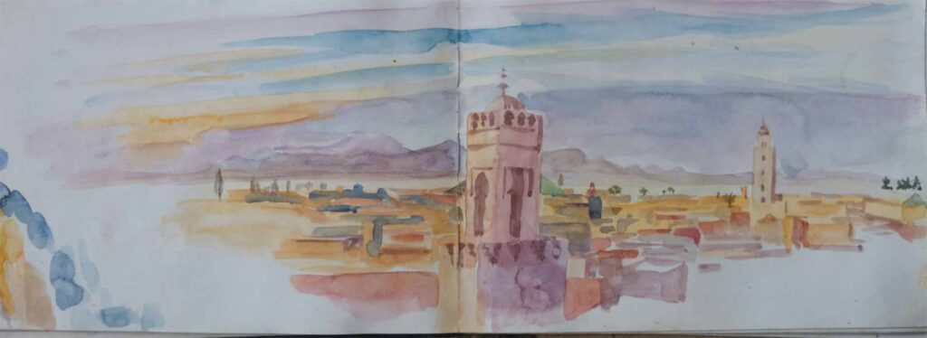 Sketch Of Sidi Belabes In Marrakesh