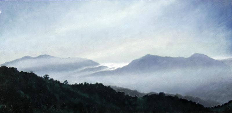Sierra Bermeja. Light on Andalucia.Contemporary landscape painting by Victoria Orr Ewing