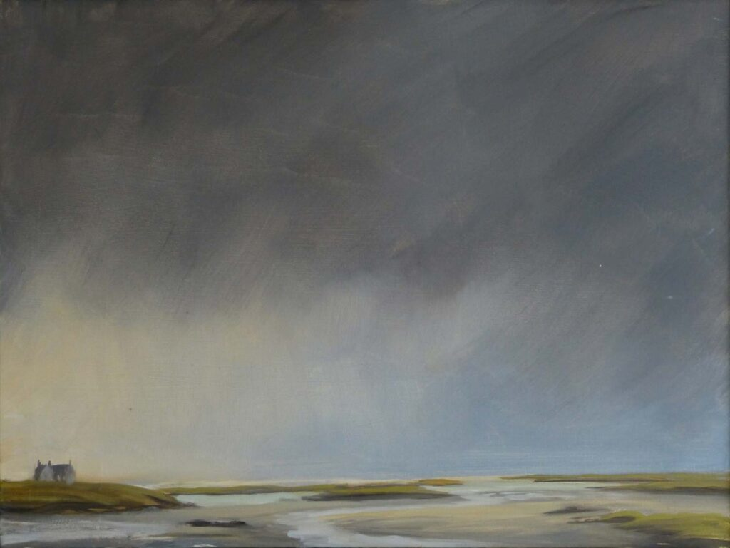 Plein Air Sketch Of Between Benbecula And North Uist by Victoria Orr Ewing