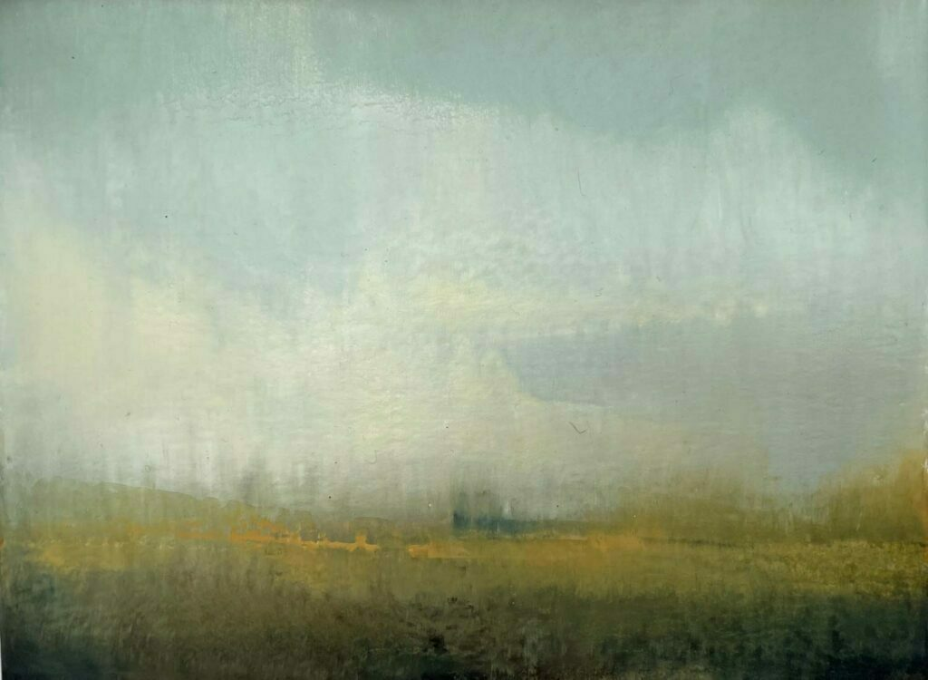 Spring Fields In The Cotswolds. Landscape Painting By Victoria Orr Ewing