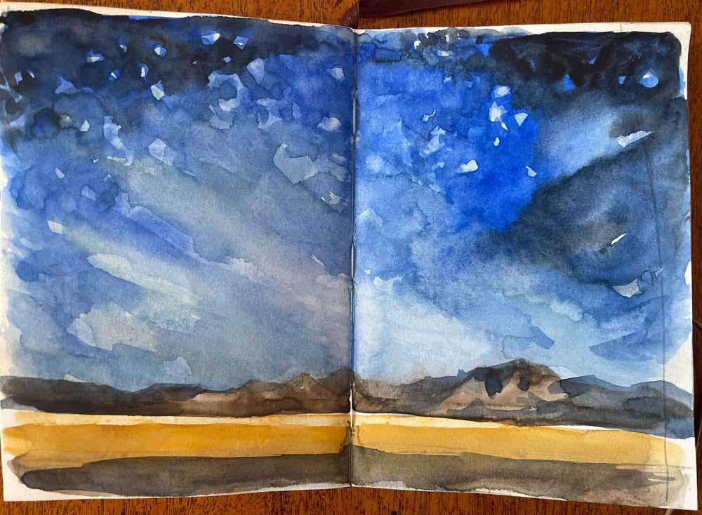 Sketch of Starry Night