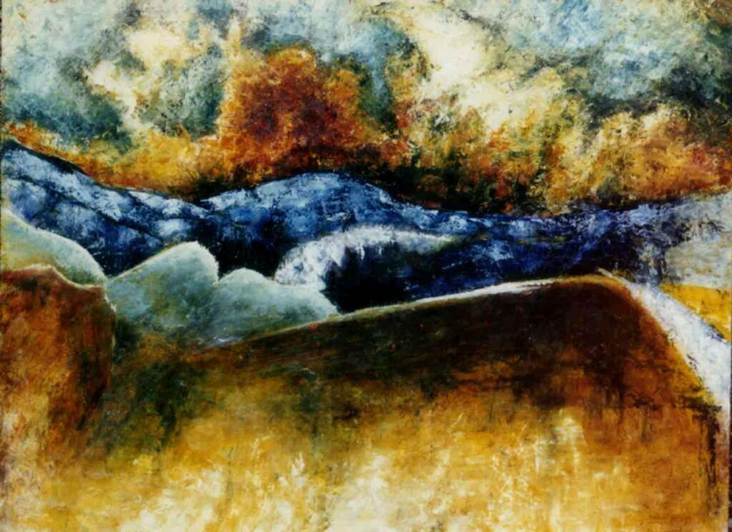 Stonescape. Landscape Painting by Victoria Orr Ewing