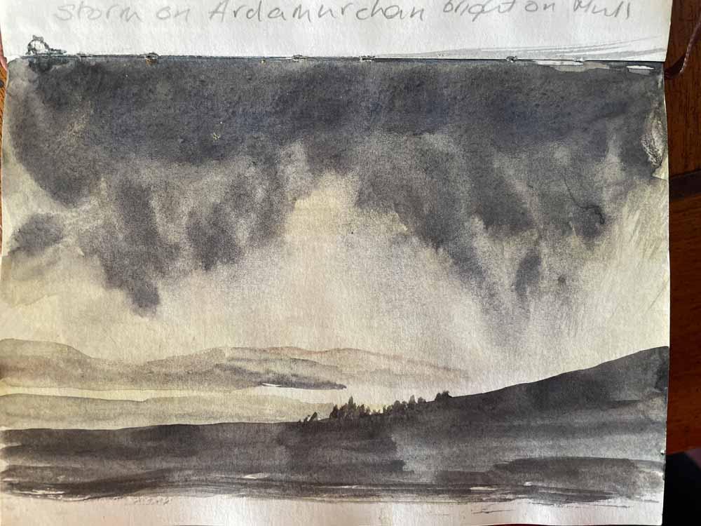 Sketch of Storm over Ardnamurchan