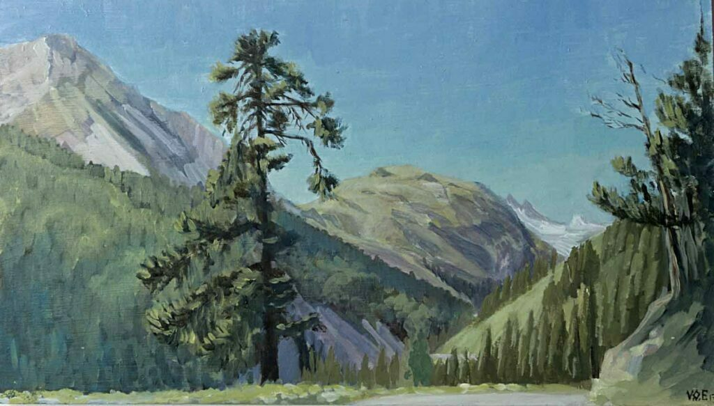 Plein Air Sketch Of Summer Between Meribel and Courchevel by Victoria Orr Ewing