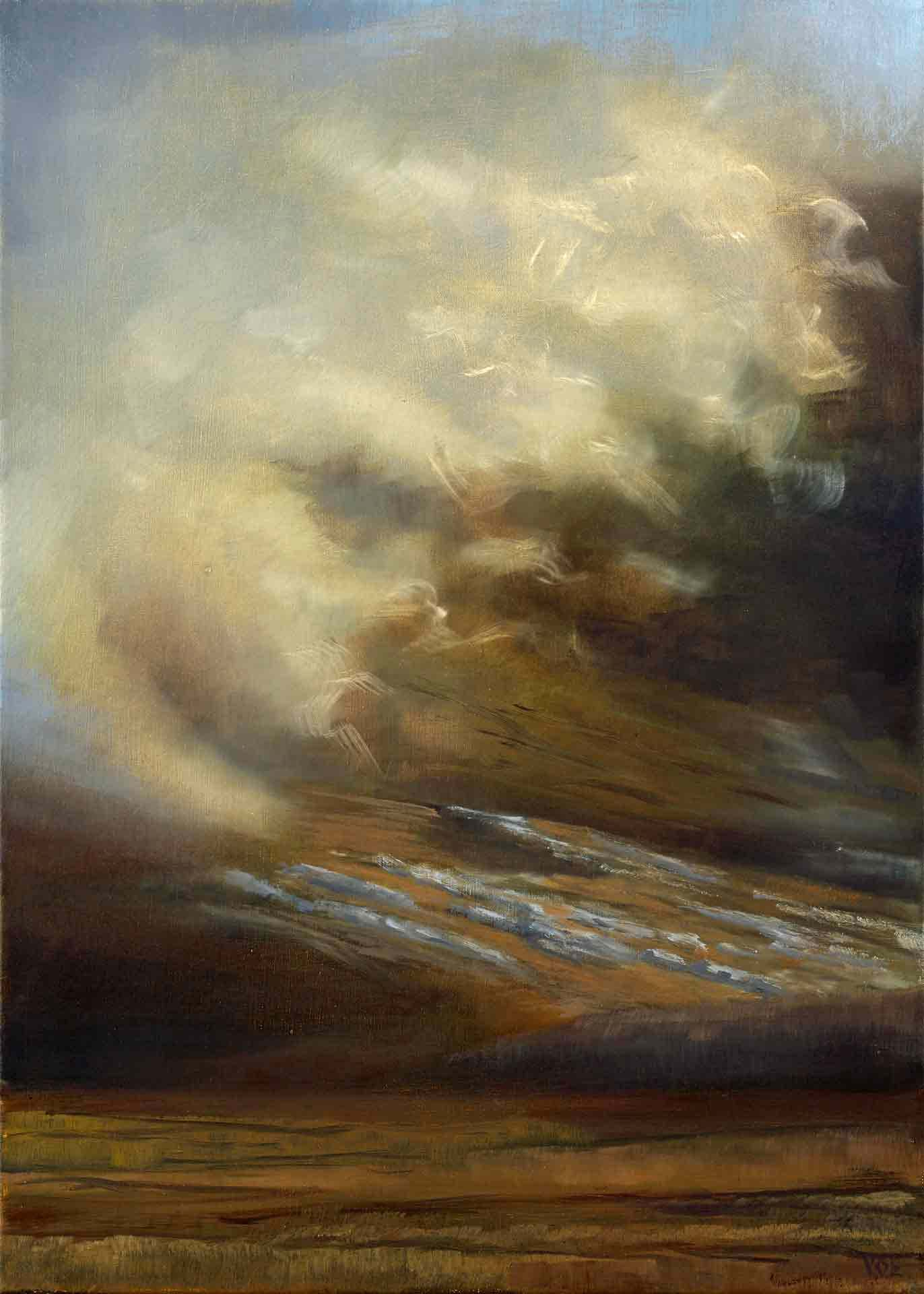 Sunlight and Clouds On Mealsival, Isle of Lewis. Contemporary Scottish Landscape Painting By Victoria Orr Ewing