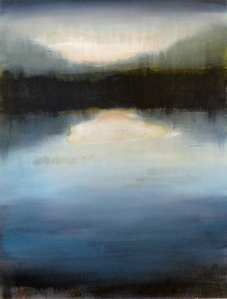 Sunrise Between Beinn Corodale & Beinn Mhor, South Uist. Landscape Painting by Victoria Orr Ewing