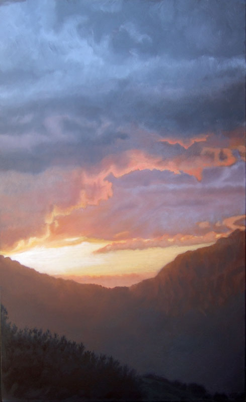 Sunrise, November 18th. Contemporary landscape painting by Victoria Orr Ewing