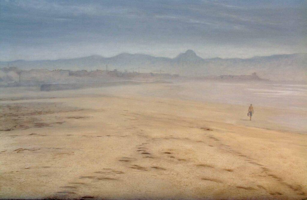 Tarifa Beach 6 Landscape Oil Painting By Victoria Orr Ewing