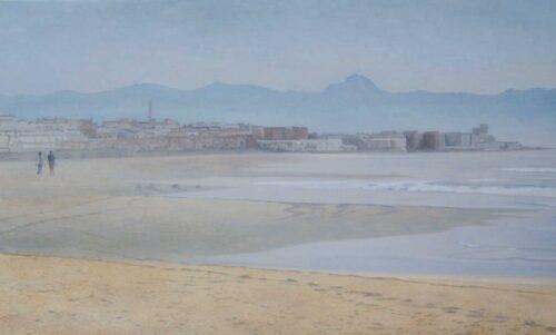 Tarifa Beach 9 Landscape Oil Painting By Victoria Orr Ewing