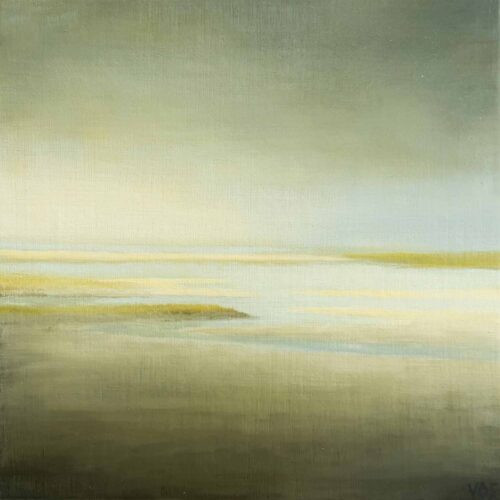 Tidal Space. Imaginary Landscape Painting By Victoria Orr Ewing