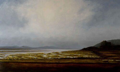 Tioram Castle, Loch Moidart. Landscape by Victoria Orr Ewing