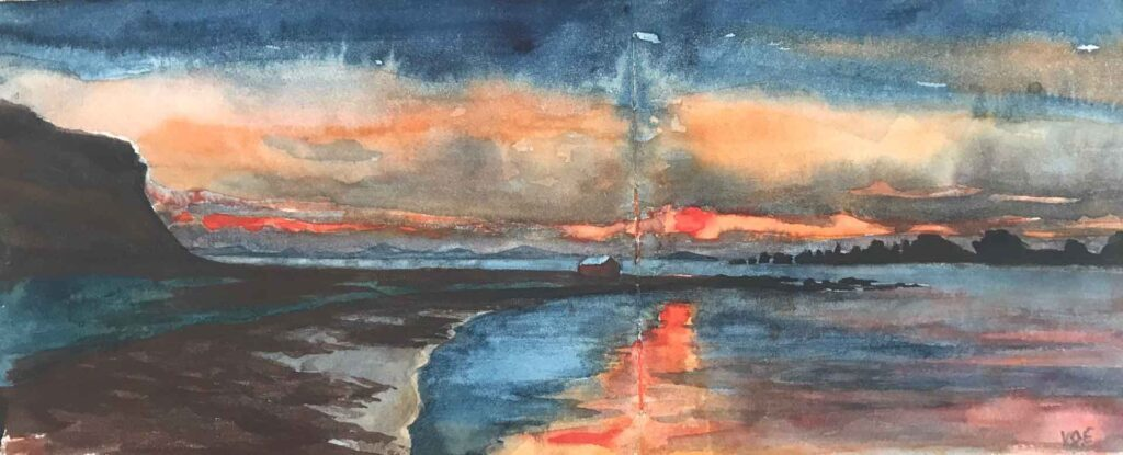 Sketch Of Tiree From Mull