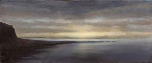 Tiree From Mull. Landscape Painting by Victoria Orr Ewing