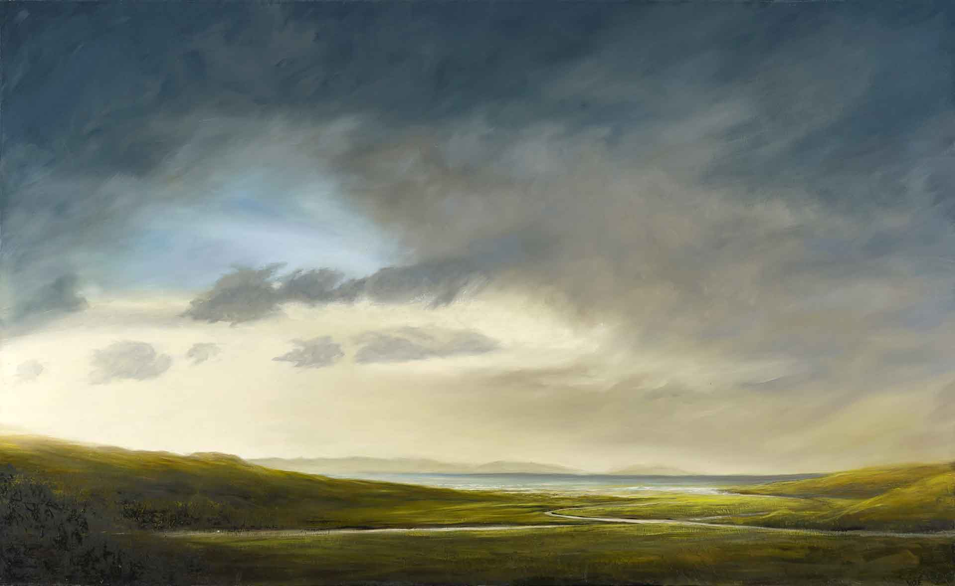 Towards the sea, Ardnamurchan. 146 x 89 cm. Oil on canvas. SOLD