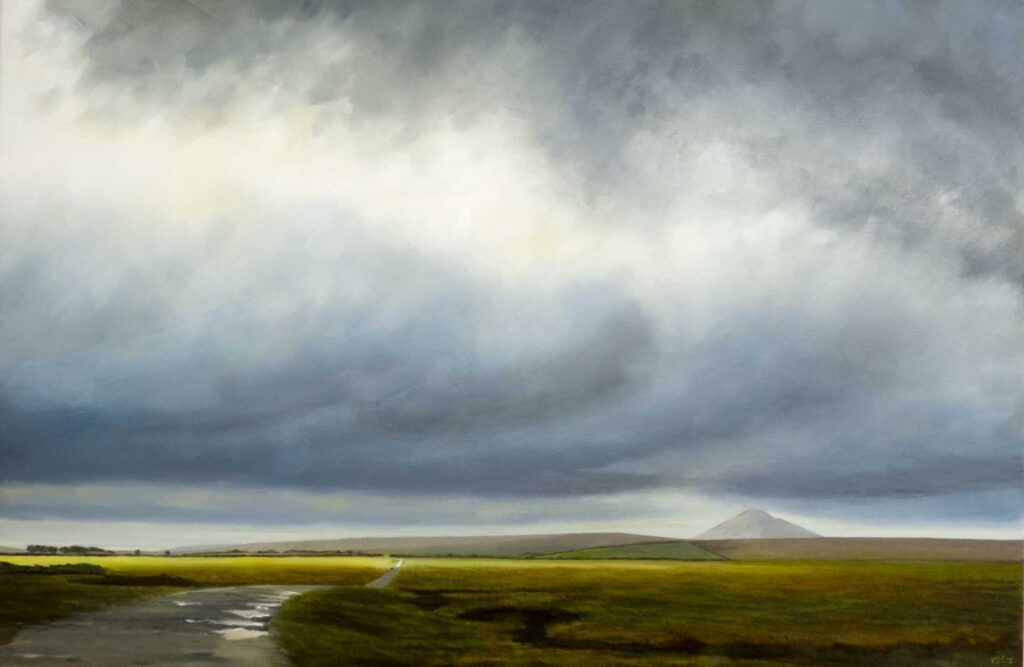 Track To Bodmin Moor, Cornwall. Commissioned landscape Oil Painting By Victoria Orr Ewing