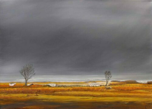 Trees by the Sea, Arisaig. Landscape by Victoria Orr Ewing