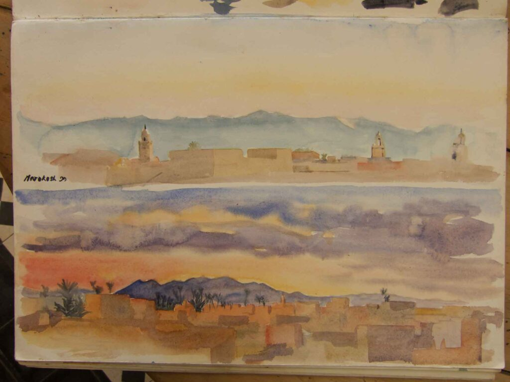 Two Sketches Of Marrakesh
