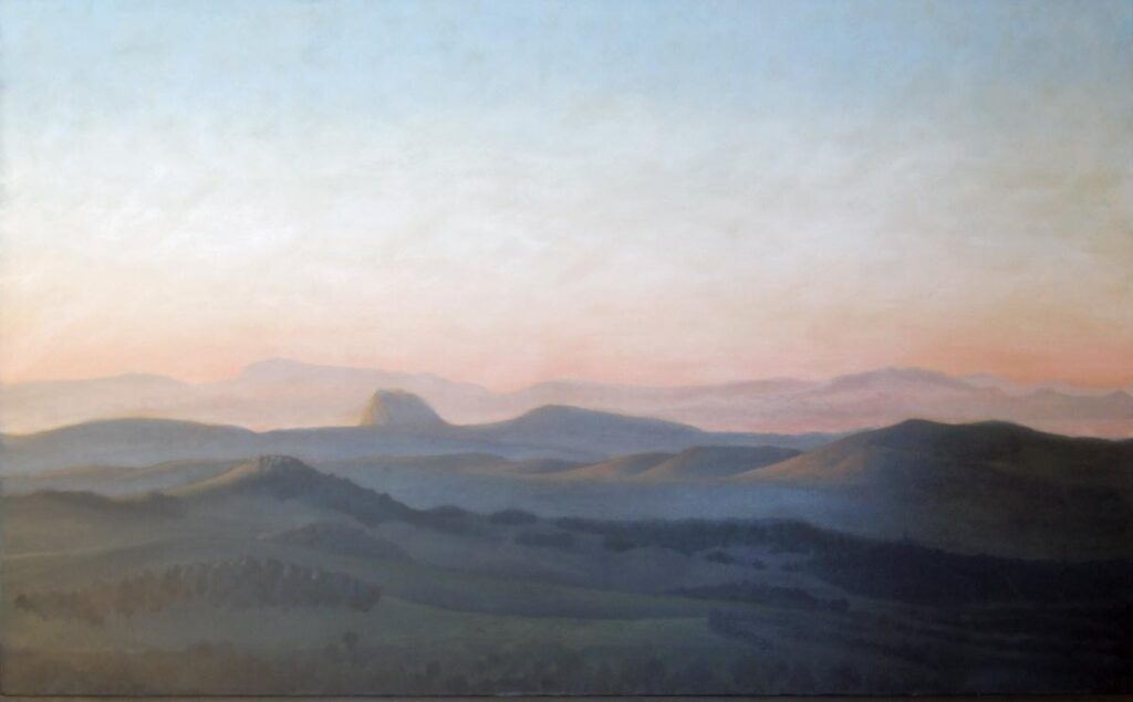 The Two Pillars of Hercules From La Almuñia. Contemporary landscape painting by Victoria Orr Ewing