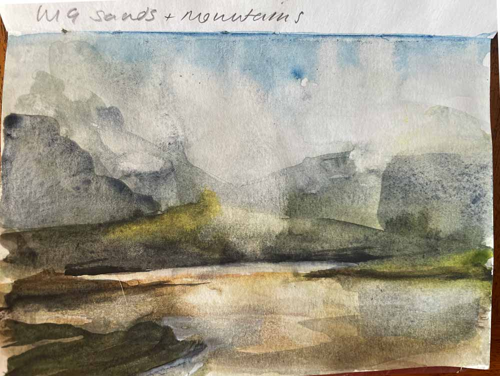 Sketch Uig sands and mountains