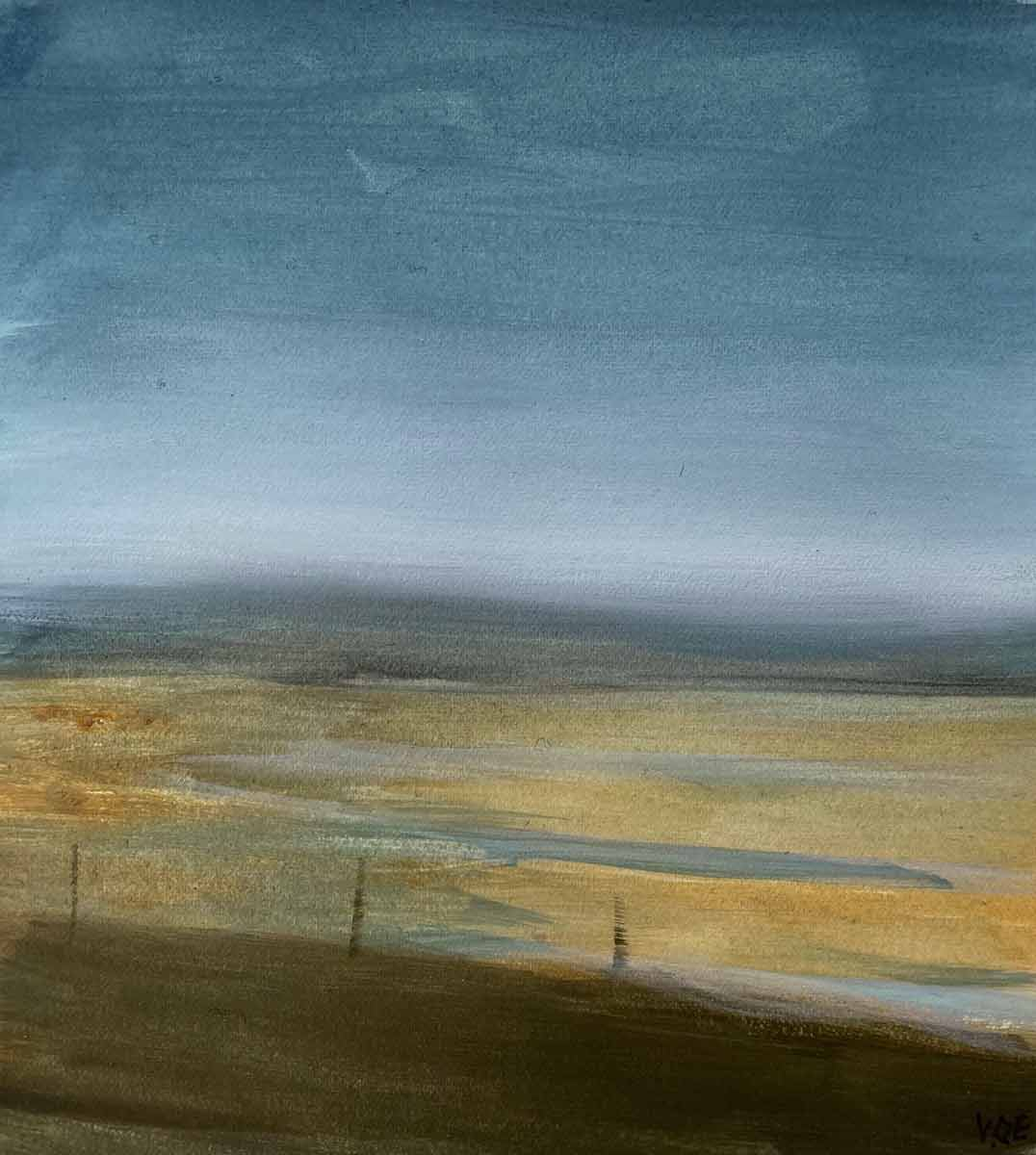 Uig Sands from Timsgearraidh. Oil on board. 40 x 30 cm