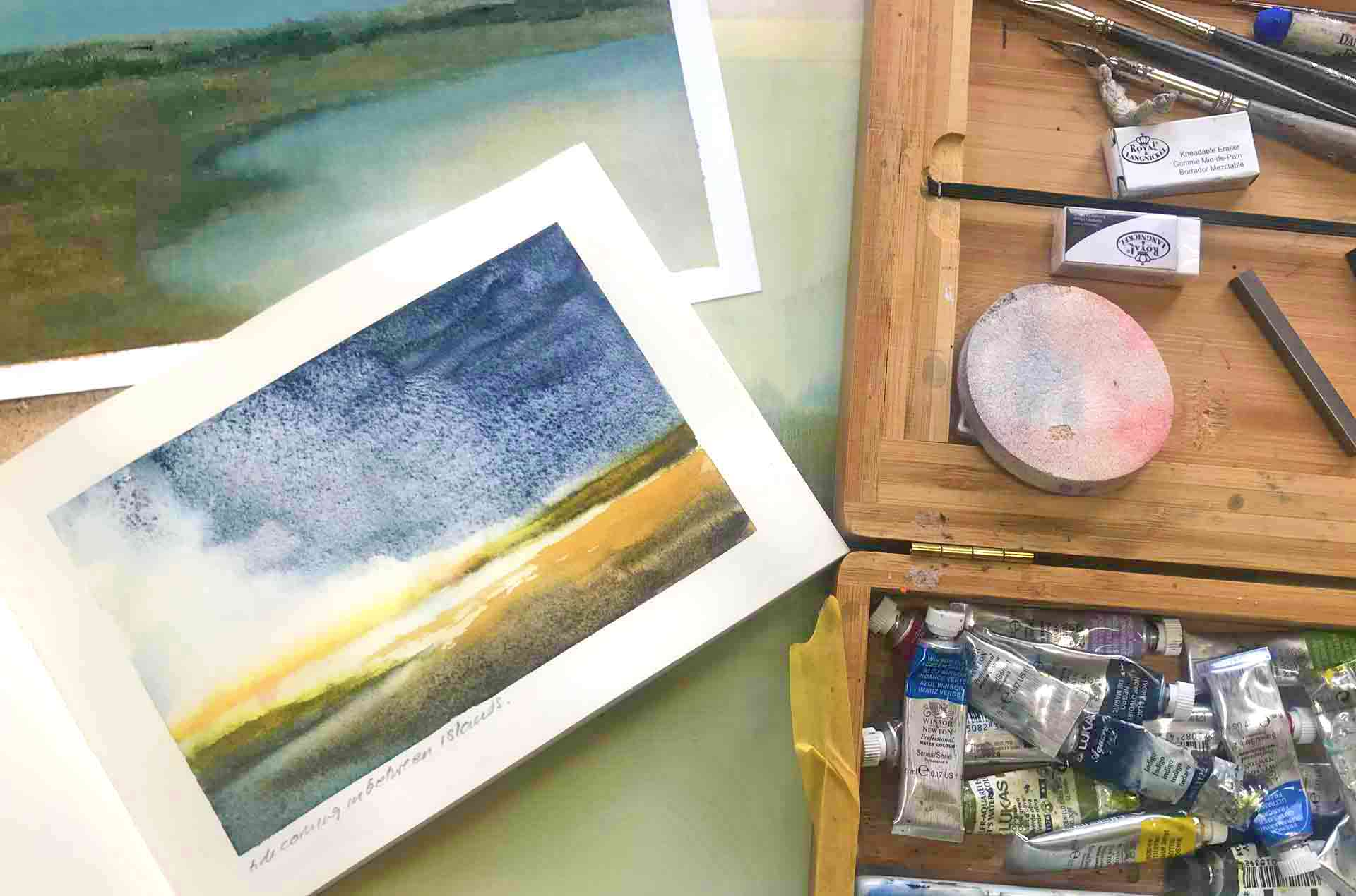 Victoria Orr Ewing's Sketchbooks For Her Landscape Paintings