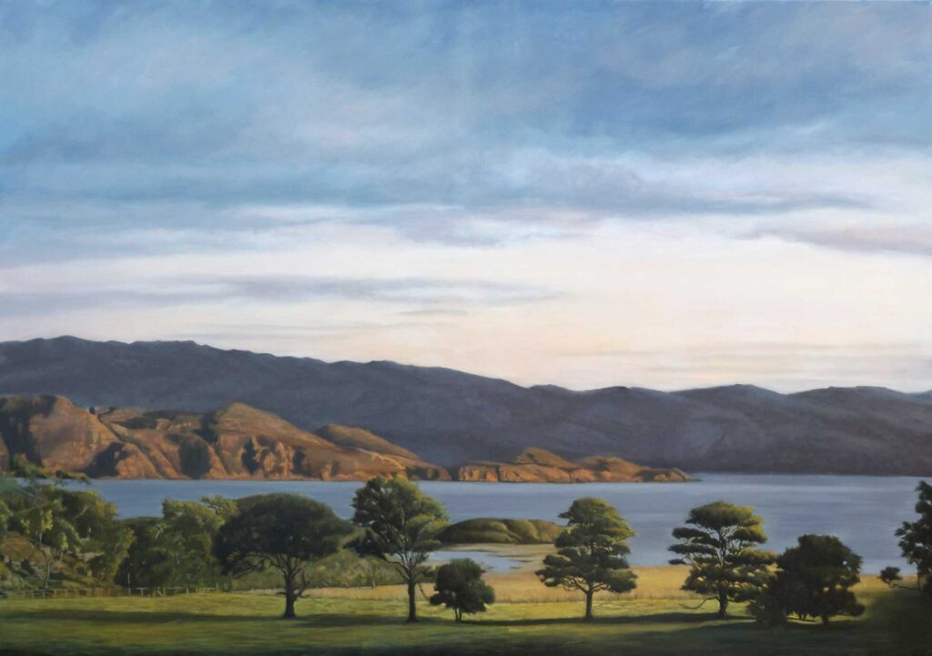 View From Arisaig House. Commissioned landscape Oil Painting By Victoria Orr Ewing