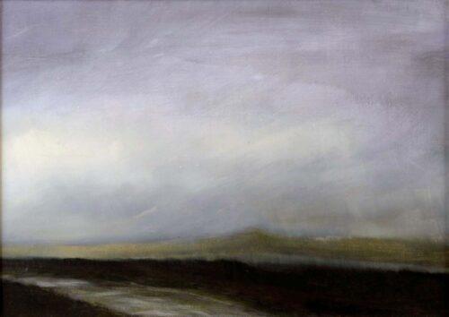 Plein air sketch of a wet track on Dartmoor by Victoria Orr Ewing