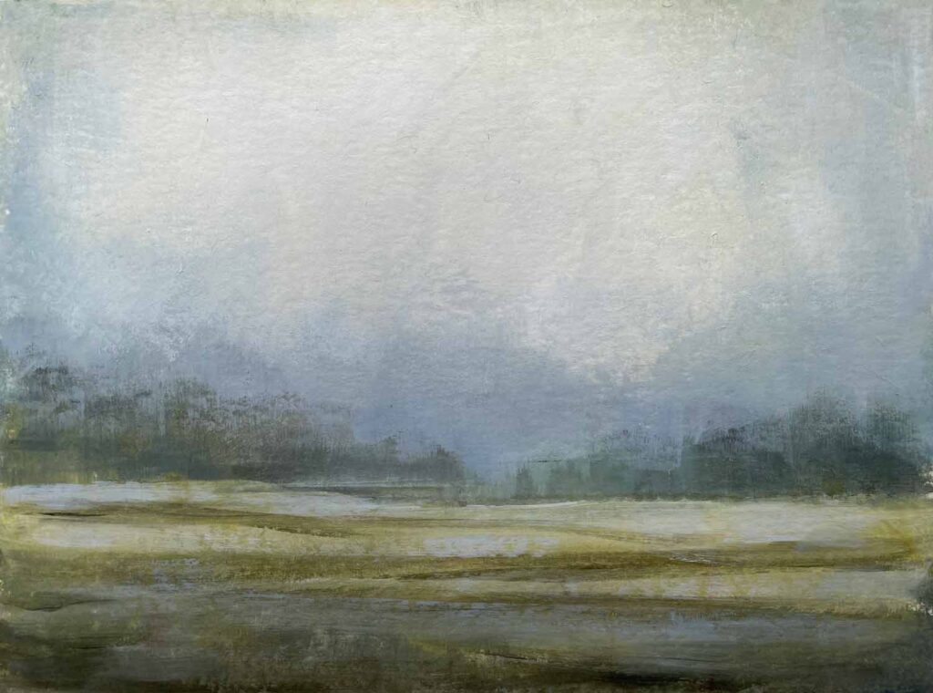 Winter fields in the Cotswolds. Landscape Painting By Victoria Orr Ewing