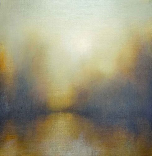 Winter Sun, Landscape Painting By Victoria Orr Ewing