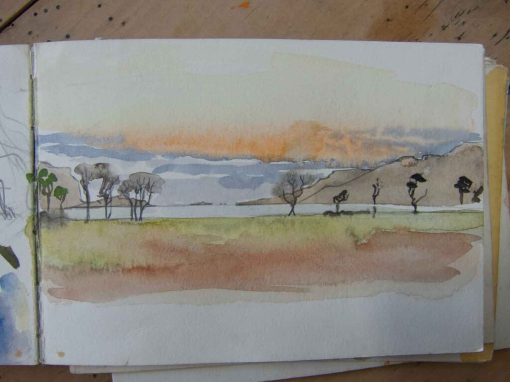 Sketch of Winter Trees in Mull