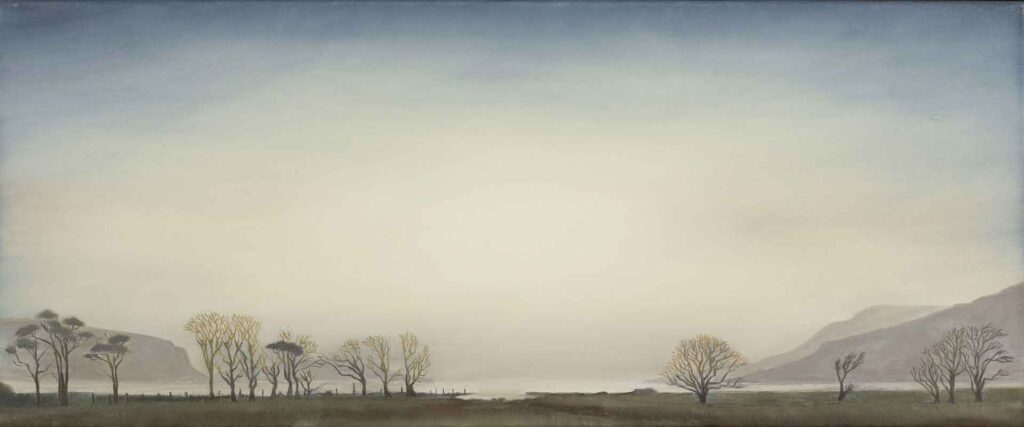 Winter Trees at Loch Na Keal, The Isle of Mull. Landscape Painting by Victoria Orr Ewing