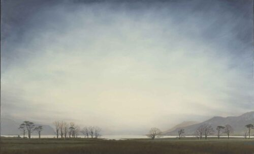 Winter Trees on The Isle of Mull. Landscape Painting by Victoria Orr Ewing